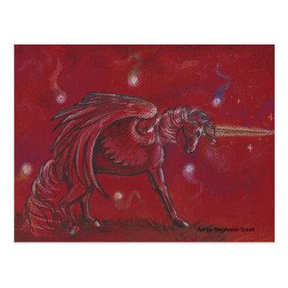 Einhorn mit Kugeln Postkarte