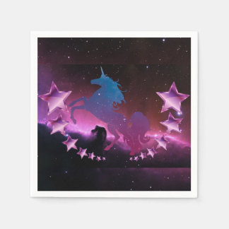 Einhorn mit Sternen Papierserviette