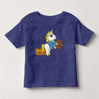 Einhorn-Piraten Kleinkind T-shirt