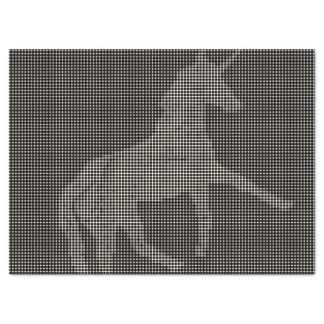 Einhorn pixelated B u. W Seidenpapier
