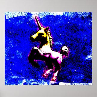 Einhorn-Plakat-Kunst-Druck 24x20 (Punkkleiner Poster