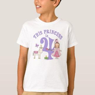 Einhorn-Prinzessin 4. Geburtstag T-shirt