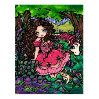Einhorn-Prinzessin Fantasy Fairy Art Postcard Postkarte