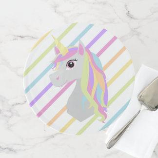 Einhorn-Regenbogen-Kuchen-Stand Tortenplatte