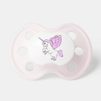Einhorn-Rosa und Weiß Baby Schnuller