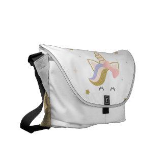 Einhorn-Schultasche, Regenbogenbotetasche Kurier Taschen