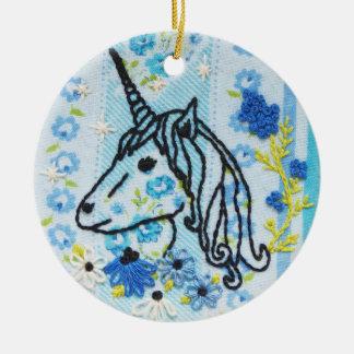 Einhorn-Stickerei-Verzierung - Einhorn-Verzierung Keramik Ornament