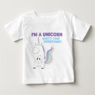 Einhorn-Supermacht Baby T-shirt
