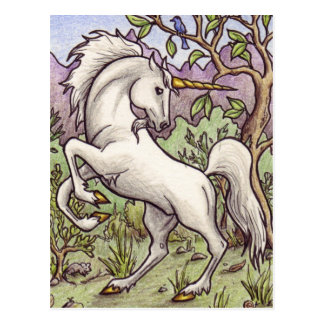 Einhorn-Tanzenpostkarte Postkarte