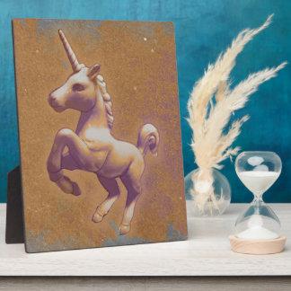 Einhorn-Tischplatte-Plakette 8x10 (Metalllavendel) Fotoplatte