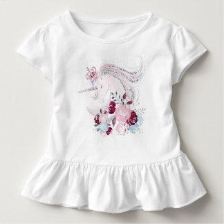 Einhorn-Traumkleinkind-Rüsche-T-Stück Kleinkind T-shirt