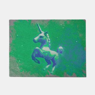 Einhorn-Tür-Matte (glühend Smaragd) Türmatte