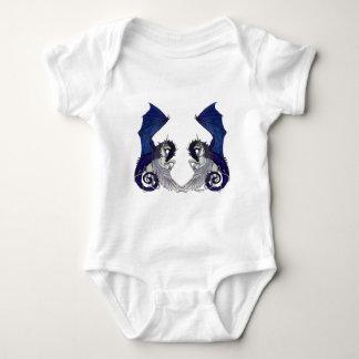 Einhorn-und Drache-Hochzeits-Liebhaber Baby Strampler