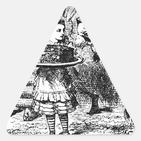 Einhorn und Löwe Dreieckiger Aufkleber
