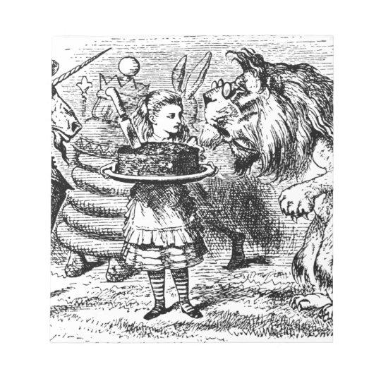 Einhorn und Löwe Notizblock
