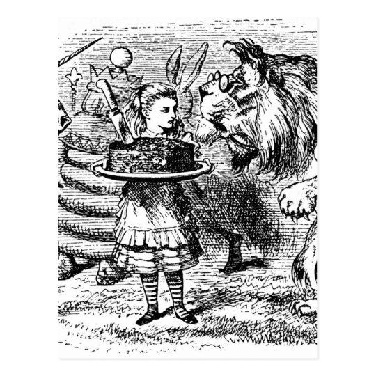 Einhorn und Löwe Postkarte