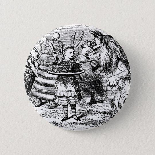 Einhorn und Löwe Runder Button 5,7 Cm