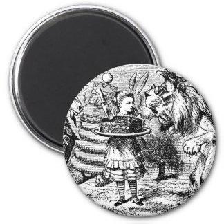 Einhorn und Löwe Runder Magnet 5,1 Cm
