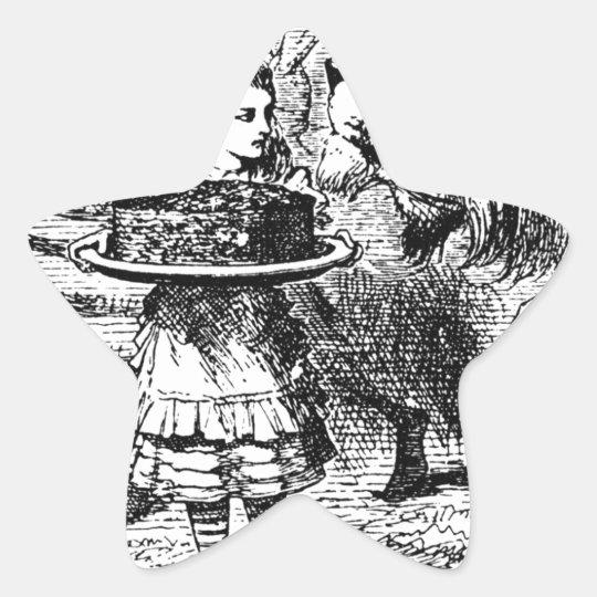 Einhorn und Löwe Stern-Aufkleber