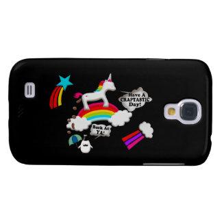 Einhorn und Pinguin Craptastic Tag Galaxy S4 Hülle