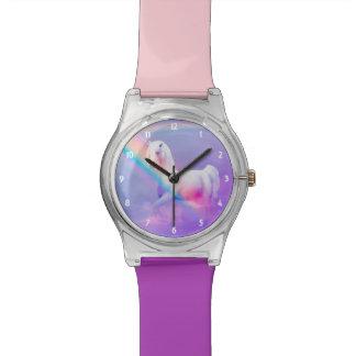 Einhorn und Regenbogen Armbanduhr