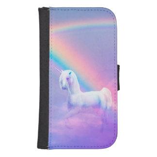 Einhorn und Regenbogen Galaxy S4 Geldbeutel Hülle