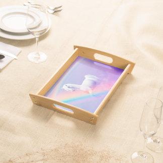 Einhorn und Regenbogen Tablett