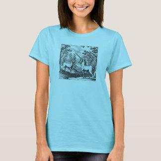 Einhorn-und Rotwild-Hirsch T-Shirt