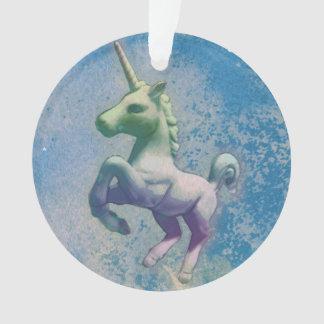 Einhorn-Verzierung - Kreis-Band (blaue Arktis) Ornament