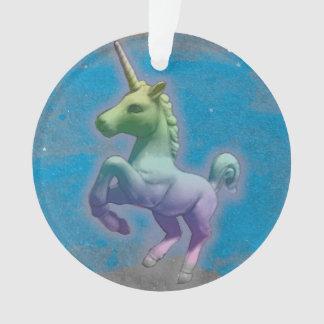 Einhorn-Verzierung - Kreis-Band (blauer Ornament