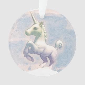 Einhorn-Verzierung - Kreis-Band (Mond-Träume) Ornament