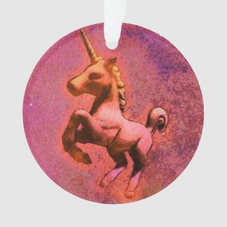Einhorn-Verzierung - Kreis-Band (rote Intensität) Ornament