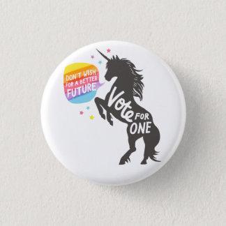 Einhorn-Wunsch Runder Button 2,5 Cm