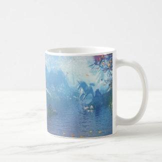 Einhörner im Fluss Kaffeetasse