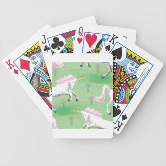 einhörner in den Feldern von pixel Bicycle Spielkarten