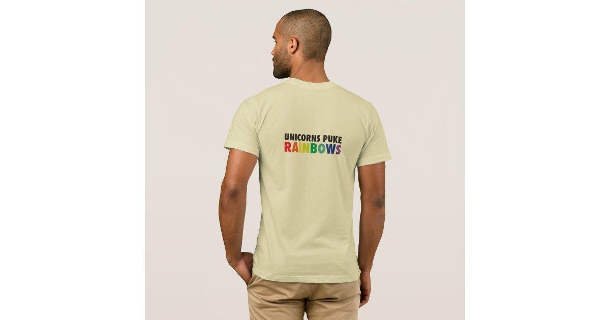 einh rner kotzen regenbogen t shirt zazzle. Black Bedroom Furniture Sets. Home Design Ideas