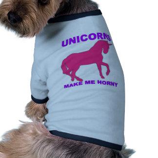 Einhörner machen mich hornig ringer Hunde-Shirt