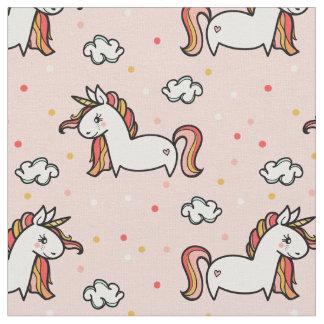 Einhörner u. Confetti erröten rosa Muster Stoff