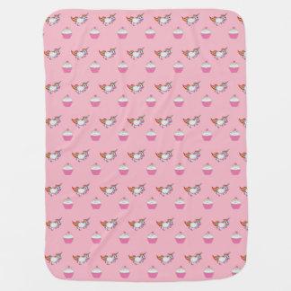 Einhörner und Kuchen-Mädchen-Decke Babydecke