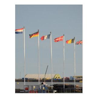Einige europäische Flaggen-Geschenke Postkarte