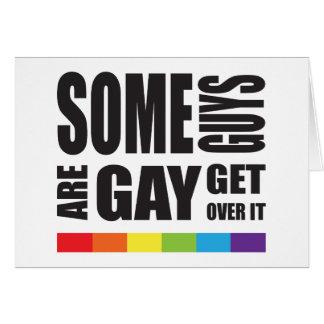 Einige Typen sind erhalten über es LGBT Stolz Grußkarte