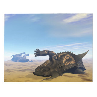 Einiosaurusdinosaurier tot notizblock