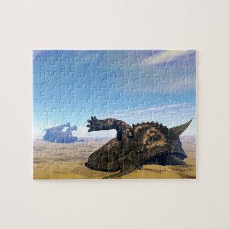 Einiosaurusdinosaurier tot puzzle
