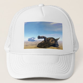 Einiosaurusdinosaurier tot truckerkappe