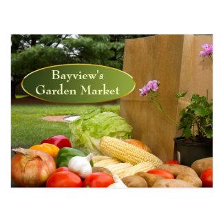Einkauf für Gemüse -   Marketings-Postkarte Postkarte