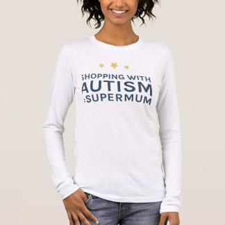 Einkauf mit Autismus Supermum langer Hülsen-Spitze Langarm T-Shirt