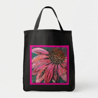 Einkauf-Tasche mit GGs Coneflower Collage Einkaufstasche