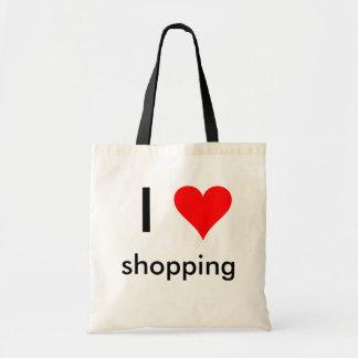 Einkaufen des Herzens I Budget Stoffbeutel