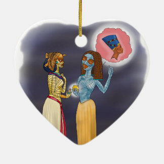 Einkaufen Frau Mummific Keramik Herz-Ornament