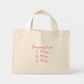 Einkaufen List1. Wine2. Wein Wine3 Einkaufstasche